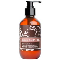 flipped natural earth retail bath shower gel